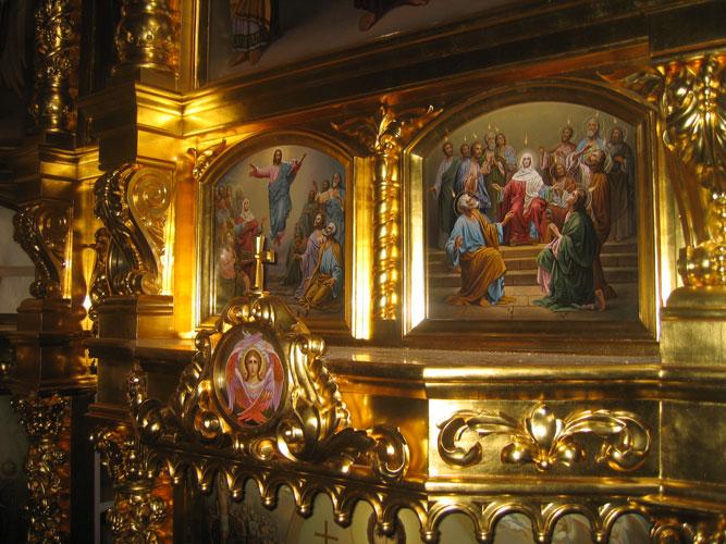 Праздничный ряд иконостаса - южный придел