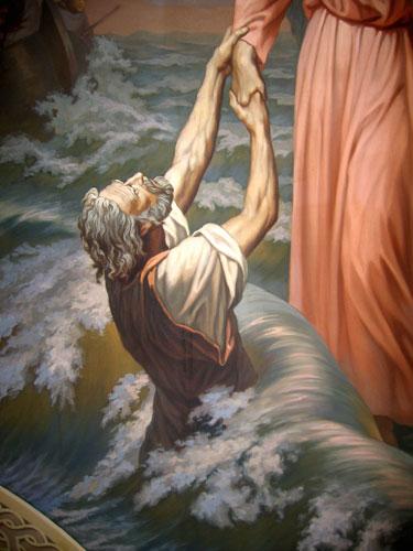 Спасение утопающего Петра - деталь