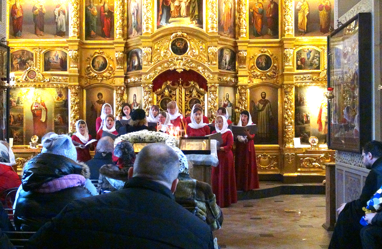 Святочный концерт ансамбля «Светолитие» в Уаровском храме пос. Вешки