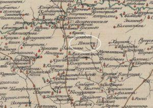 Геометрическая карта Московской губернии. 1797 г. Фрагмент