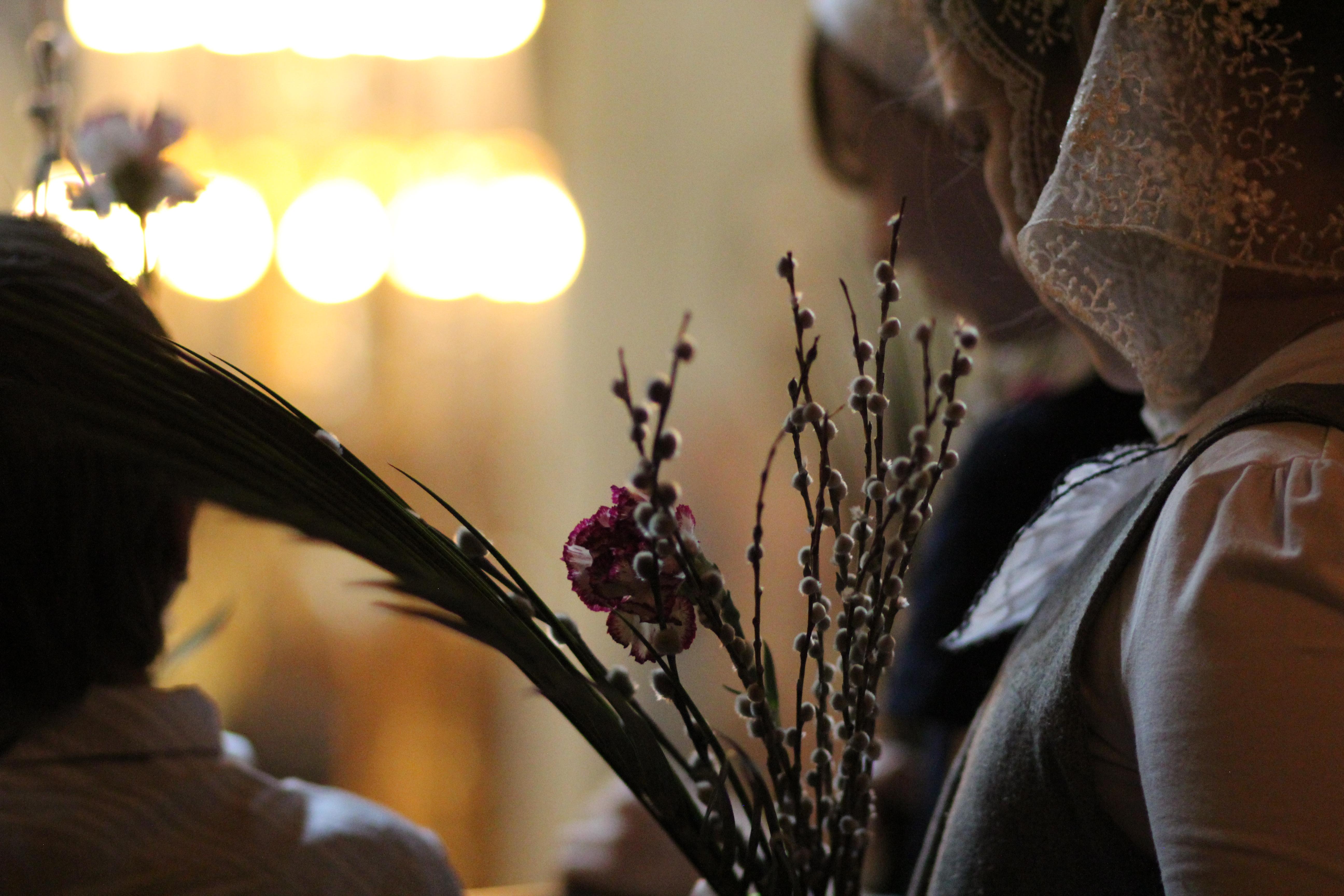 Вербное воскресенье в храме Св. мч. Уара